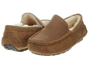 UGG Chesnut Ascot Leather Slippers